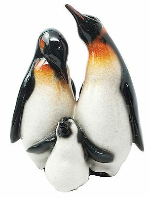 Antarctica Polar Ice Emperor Penguin Family Unit Father Mother Chick Figurine