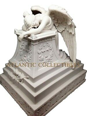 Inspirational Guardian Mourning Angel Cremation Resin Urn Bottom Load 320CuIn