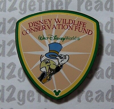 Disney Pin Jiminy Cricket Wildlife Conservation Fund Shield