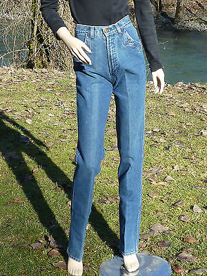 "Tall Girl Blue Jeans Rocky Mountain Clothing Usa 27""x 36 1/2"" Long Blue Jeans"