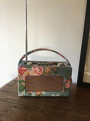 Cath Kidston Limited Edition Original Roberts Revival Radio Blue Floral