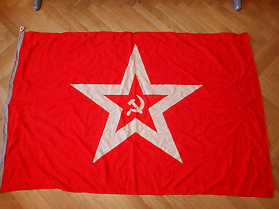 "Military USSR Russia battleship Naval Fleet VMF 68x45"" flag wool marked 1990"