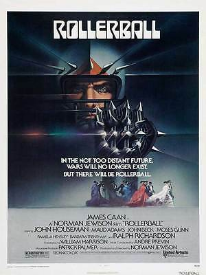 "Framed Classic vinatge movie poster ""RollerBall"" 30% off"