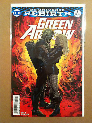 Green Arrow V.5 #5 Neal Adams Variant Cover Black Canary Rebirth Nm 1St Printing