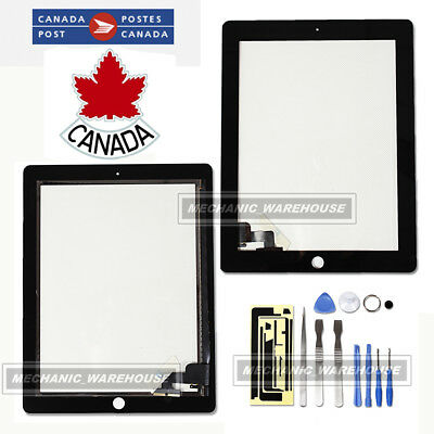 For iPad 2 Replacement Black Front Glass Digitizer Touch Screen Lens + Tools CA