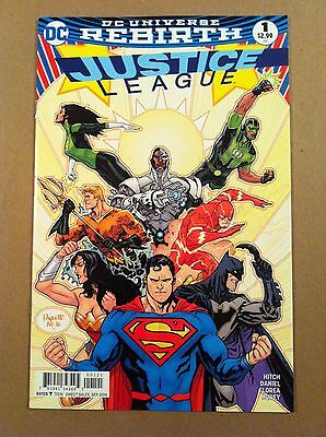 Justice League (2016) #1 Yanick Paquette Variant Cover Rebirth Nm 1St Printing