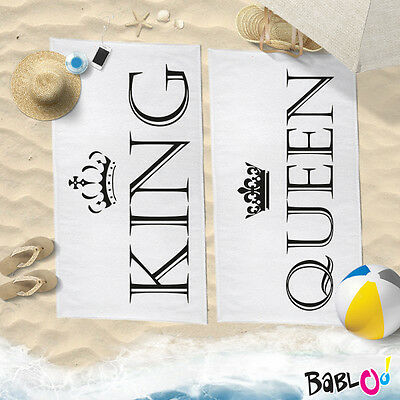 "Coppia di Teli Mare Love You And Me ""King And Queen"""