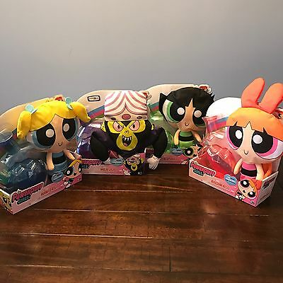 Lot The POWERPUFF GIRLS Complete Set 4 PUFF OUT PLUSH Dolls Fit in Range-Moi B5