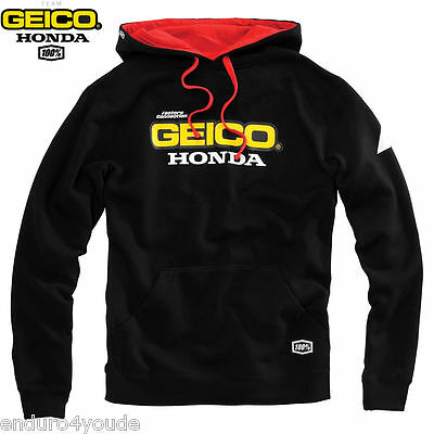Honda Racing Geico Team Base Hoodie by 100% NEU Freizeit MX Enduro
