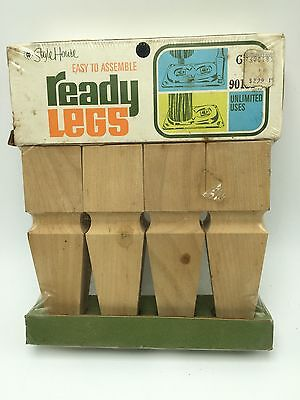 """Vintage Style Home Ready Legs Furniture 6"""" Wood Square Tapered NOS Unfinished"""