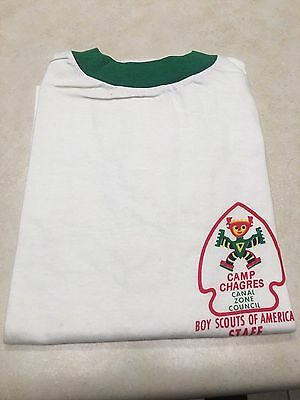 Vintage Boy Scout Camp Chagres Staff T-Shirt - Size Large
