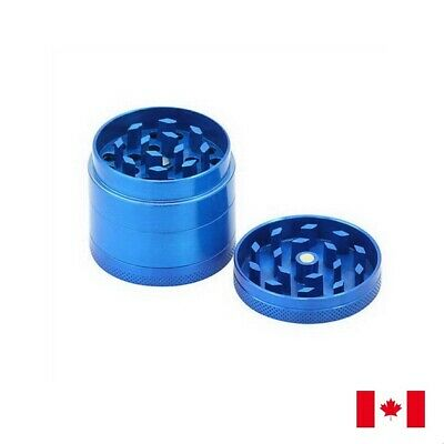Blue Zinc Alloy 4 Layers 40mm Tobacco Herb Grinder w/ Scraper