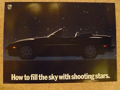 "1989 Porsche 944 S2 Cabriolet ""Shooting Stars"" Showroom Showroom Poster RARE!!"