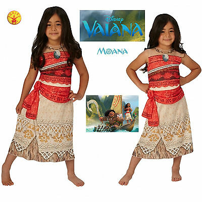 Vaiana Vestito Carnevale Originale Disney Moana Original Costume Dress RUBVAI01