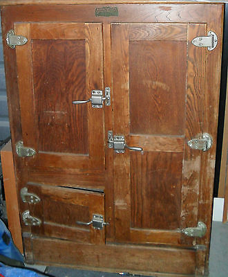 Antique Northern Refrigerator Co Ice Box Pick up Only