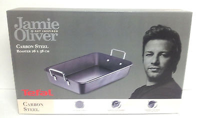 Tefal Jamie Oliver 26 X 38 Cm Carbon Steel Non-Stick Roaster Roasting Tin Tray