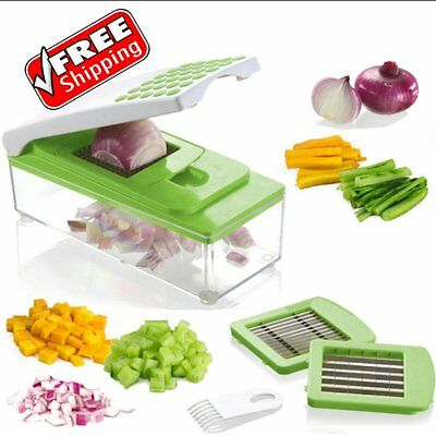 Onion Slicer Dicer Vegetable Cutter Kitchen Food Chopper Container Fruit Potato