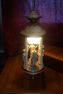 Mid-Century Italy Pendant Lamp Chandelier Women in Arts Sculpture Ceiling Light