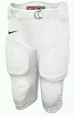 New Nike Boys Pro Hyperstrong Integrated Football Pants Youth XL White MSRP $40