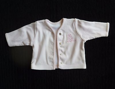 Baby clothes GIRL newborn 0-1m Mothercare soft pink lined cardigan/light jacket