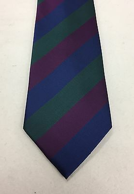Royal Regiment of Scotland Polyester Striped Tie, Army, Military, Present, RRS