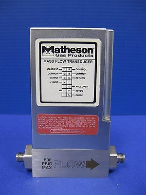 MATHESON Mass Flow Transducer 8272-0443, AIR, 2 SLPM, Used