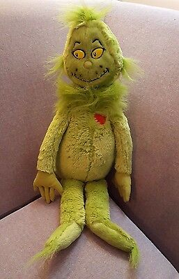 """Kohl's Cares Dr. Seuss How The Grinch Stole Christmas 18"""" Plush Red Heart Toy"""