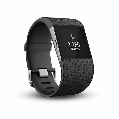 FITBIT Surge Activity Tracker Wristband Touchscreen Water Resistant Large Black