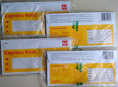 40x Prepaid Australia Post Express DL Envelope window face 500g Brand New Sealed