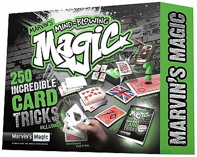 Marvin's Mind-Blowing Magic 250 Incredible Card Tricks Set Brand New Age 8+