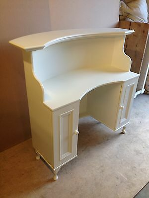 Curved Reception Desk with kneehole - French style, shabby chic