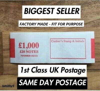 10 x £20 note money bands UK currency straps FREE 1st CLASS POSTAGE