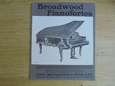 early 1900`s ad, broadwood pianofortes,an invite to the public for inspection.