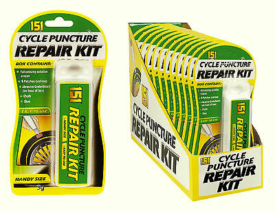 Bicycle Cycle Bike Tyre Wheel Tube Tire Puncture Repair Kit Tool Glue Patches