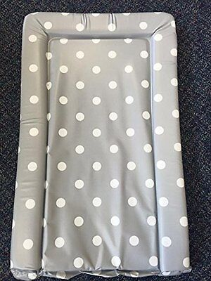 Deluxe Unisex Baby Waterproof Changing Mat with Raised Edges - Unique Grey with