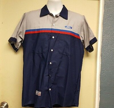 Red Kap Ford  Mechanic / Tech Short Sleeve Uniform Dealer Shirt