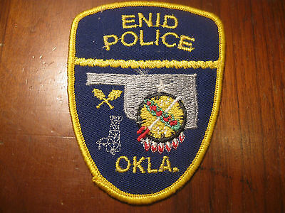 Enid Oklahoma Police Patch(Indian Motif)