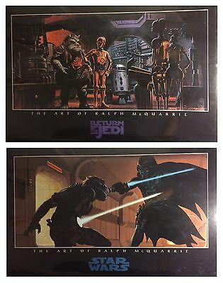 New Star Wars 1997 Ralph Art of McQuarrie 24 x36 Poster Lot Of 2 Posters