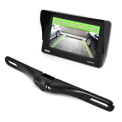 Pyle 4.7-Inch Window Suction Mount TFT/LCD Monitor with License Plate Mount Rear