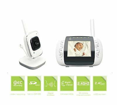 Digital 2.4G Wireless Security Video Baby Monitor Baby Camera With Storage Audio