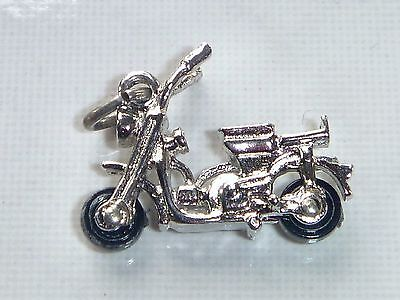 MOTOR SCOOTER Vintage Sterling Silver Charm Pendant
