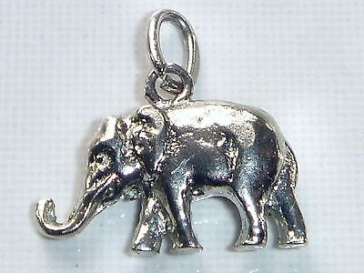 ELEPHANT Vintage Sterling Silver Charm Pendant