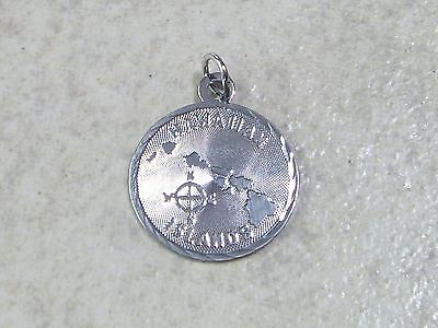 HAWAIIAN ISLANDS Vintage Sterling Silver Charm Pendant