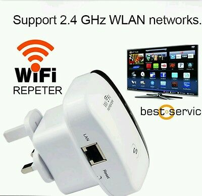 300Mbps Wireless N 802.11 AP Wifi Range Router Repeater Booster Extender UK Plug