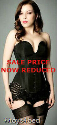 New BLACK CORSET WITH MATCHING G STRING - Australian Seller - AL002