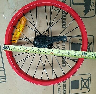 "BMX Bike Rear Wheel Rim 12"" Inch - To Suit 16"" BMX Bike"