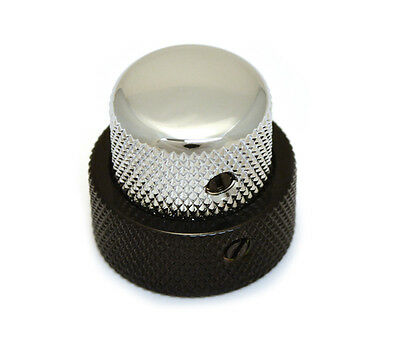 (1) Black/Chrome Stacked Knob for '62 Jazz Bass/CTS Stack Pot MK-3338-000