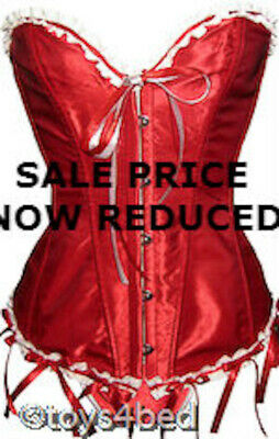 New RED SATIN CORSET AND MATCHING G STRING - Australian Seller - AL005