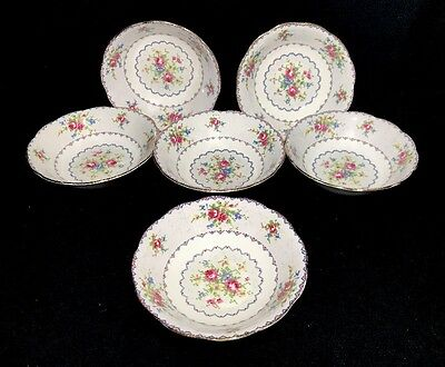 Royal Albert Petit Point Soup/ Cereal Bowls Set Of 6 Bone China England