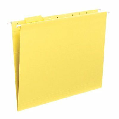 Smead Hanging File Folder with Tab, 1/5-Cut Adjustable Tab, Letter Size, Y...NEW